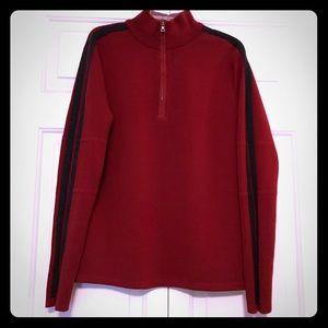 Banana Republic Red Men's Half Zip Sweater